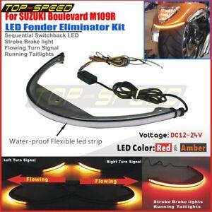 Rear Fender LED Turn Signal Brake Tail Light for Suzuki Boulevard M109R 06-UP