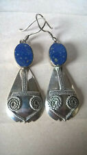 Boucles d'Oreilles Pendants Argent & Lapis Lazuli / Earrings