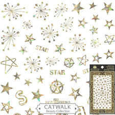 Metallic Gold Star Fourth of July Nail Art Sticker Manicure Decal Us Fast Ship
