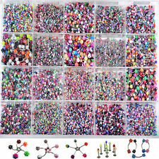 Lot 110 Eyebrow Navel Belly Tongue Nipple Lip Nose Ring Labret Bar Body Jewelry