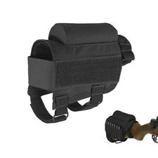 Gun Stock Holder/Buttstock Cheek Rest with Shooting Case Holder Adjustable Black