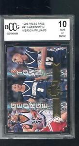 1996-97 Press Pass #41 Allen Iverson Georgetown Harrington Williams Card BCCG 10