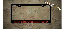 Chevrolet Bowtie Logo Plastic License Plate Frame Decal Vinyl Red Gift