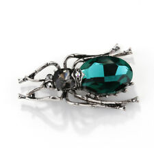Pin for Women Men Jewelry Gift Fashion Enamel Crystal Green Insect Animal Brooch