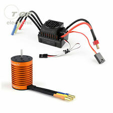 9T 4370KV Brushless Motor+60A ESC Speed Controller Combo for 1/10 RC Car Parts