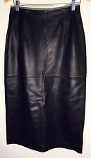 "Pendleton Black Leather Long Pencil Skirt 33"" Size 8"