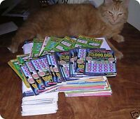 $1000 Bags of 2019 losing New York lottery scratch off tickets. 70 bags  avail