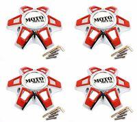 4 Moto Metal Chrome Wheel Center Hub Caps Bolt-On 6x5.5 6x139.7 6x135 MO969