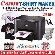 CANON PRINTER PLUS BULK HEAT TRANSFER INK COTTON T-SHIRT MAKER STARTER PACK