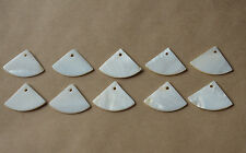 10pcs MOTHER OF PEARL SHELL  EARRING  BEADS TRIANGE WEDGE CRESCENT HANDMADE