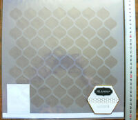 Stencil COTTAGE LIVING 255x275mm -use with Fabric Paper Chipboard & Canvas 12x12