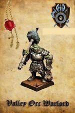 Shieldwolf Miniatures Valle Orco Señor de la guerra un arma de mano con 2