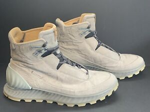 New* Men's 9 - ECCO - Exostrike Boots - Dyneema Leather - Wild Dove Grey