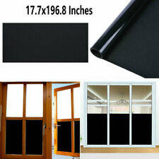 Black Window Film Vision Privacy Window Sticker Protect Decor Solar Tint Film