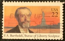 US 1985 - FREDERIC BARTHOLDI - STATUE OF LIBERTY SCULPTOR - FINE USED 22c STAMP