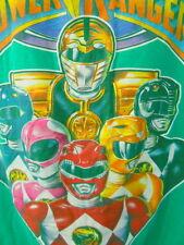 Power Rangers Tee Shirt XL Green Mighty Morphin White Ranger Tiger Power