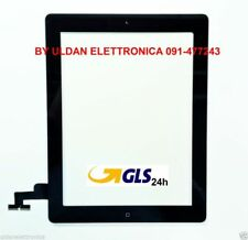 TOUCH SCREEN Apple iPad 2 A1395 A1396 A1397 WiFi e 3G VETRO + TASTO HOME NERO
