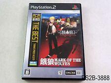 Garou Mark of the Wolves Best Playstation 2 Japanese Import PS2 JP US Seller B