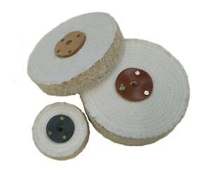 """Sisal Polishing Mops 3"""" to 12"""" Many sizes available with leather centre collar"""
