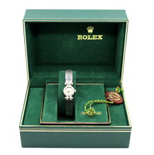 Vintage ROLEX Women's 18 KT White Gold Watch With Diamonds Bezel Serpico Y Laino
