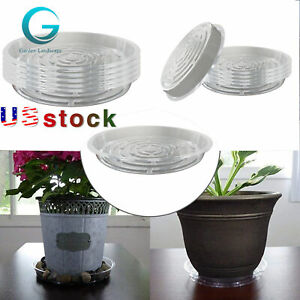 5/10 Pack Clear Thick Plastic Heavy Duty Sturdy Plant Saucer Drip Trays for pot