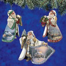 Old World Santa Thomas Kinkade Ornaments / Figurine - Bradford Exchange