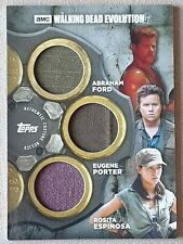 Walking Dead Evolution Triple Relic /25 Abraham, Eugene & Rosita