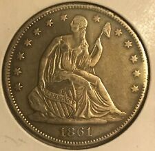 1861-o  seated Liberty Half dollar VF +++ near XF