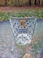 Vtg Bicentennial Celebration 1776 1976 Drum Stars Eagle 8 Oz Drink Glass Barware