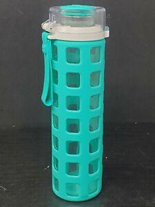 Ello Syndicate Turquoise 20 oz Glass Water Bottle