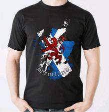 Scottish Heritage Saltire T-Shirt -Scotland Clothing Cotton Tee St Andrews Cross