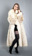 3735 GLAMOROUS REAL BLUE FOX COAT LUXURY FUR VERY LONG BEAUTIFUL LOOK SIZE 2XL