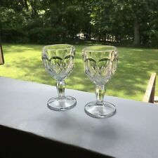 Pair Of Small Pressed GlassWines / Cordials