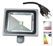 50w Bewegungsmelder Fluter Scheinwerfer 0.8 M kable + CH Stecker kaltweiss LED .