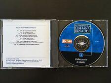 LETTERATURA ITALIANA EINAUDI N°1 IL DUECENTO E DANT CD-ROM PANORAMA Mai usato