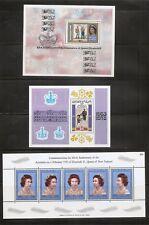 British Commonwealth, Queen Elizabeth Silver Jubilee. Souvenir sheets .MNH