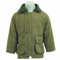 Kids Tweed Jacket, Waterproof Shooting, Hunting Coats Jackets UK