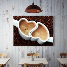 Latte Coffee Canvas Poster Art Picture Prints Kitchen Wall Hanging Decor HY1