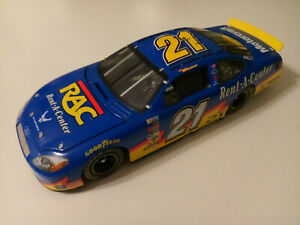 TEAM CALIBER 2004 RICKY RUDD #21 FORD TAURUS RAC RENT-A-CENTER NASCAR 1:24