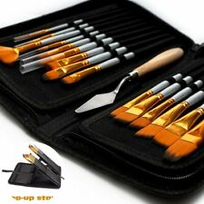 15Pcs Artist Paint Brushes Set Watercolour Acrylic Oil Painting Drawing Brush AU