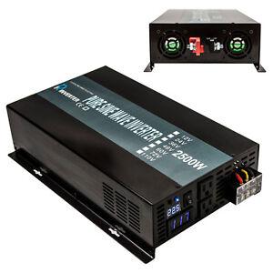 2500W DC to AC Power Pure Sine Wave Inverter 24V to 120V Solar System off Grid