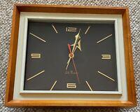Vintage 1960s Seth Thomas Portrait Clock Mid Century Modern Model E602-000 As-Is