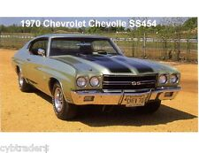 1970 Chevrolet Chevelle SS 454  Auto Car Refrigerator / Tool Box  Magnet