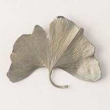 Michael Michaud - Large Ginkgo Brooch Pin - Silver Seasons Jewelry - Ginko Leaf