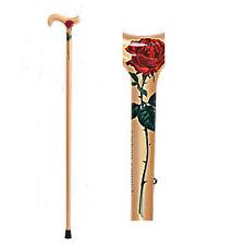 """37"""" Rose Floral Carbon Fiber Walking Cane Women Mothers"""