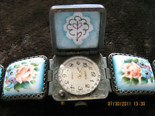 SALE!Rare Chaika original signed Finift Soviet ladies bracelet watch,hand paint