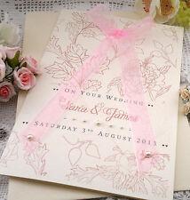 Large Handmade Personalised Congratulations Wedding Card