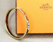 Authentic HERMES Bracelet Bangle GP enamel émail Multi Color