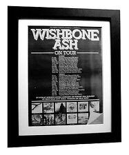 WISHBONE ASH+No Smoke+Page+TOUR+POSTER+AD+ORIGINAL+1979+FRAMED+FAST GLOBAL SHIP