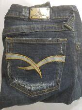 "Baby Phat ~ Women's Jeans Size 5 Dark Wash Inseam 32"" Very Cute Boot Cut Juniors"